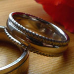 wedding rings with rails