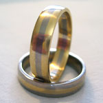 Two-tone Gold Wedding Rings