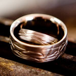 textured wedding rings